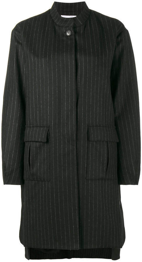 5589e51ad9dd dunkelblauer vertikal gestreifter Mantel von Lot 78   Wo zu kaufen ...