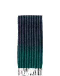 dunkelblauer vertikal gestreifter Schal von Paul Smith