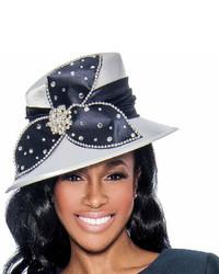 dunkelblauer verzierter Hut
