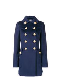 dunkelblauer verzierter Mantel von Dolce & Gabbana