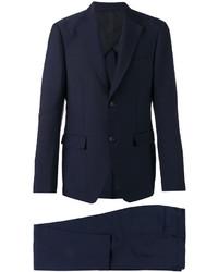 dunkelblauer Wollanzug von Salvatore Ferragamo