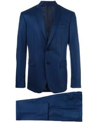 dunkelblauer Wollanzug von Versace