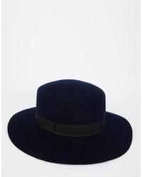 dunkelblauer Wollhut von Asos