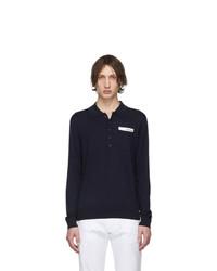 dunkelblauer Wollpolo pullover von DSQUARED2