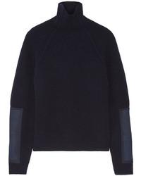 dunkelblauer Wollrollkragenpullover von Victoria Beckham