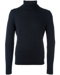 dunkelblauer Wollrollkragenpullover von Zanone