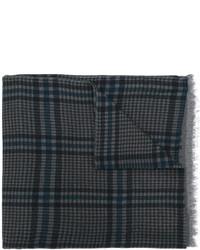 dunkelblauer Wollschal mit Hahnentritt-Muster von Valentino
