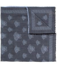 dunkelblauer Wollschal von Versace