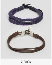 dunkelblaues Armband von Asos