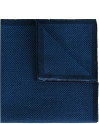 dunkelblaues Baumwolle Einstecktuch mit Hahnentritt-Muster von Eleventy