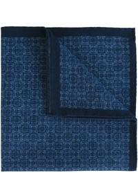 dunkelblaues bedrucktes Baumwolle Einstecktuch von Eleventy