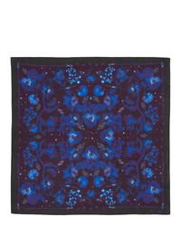 dunkelblaues bedrucktes Einstecktuch von Paul Smith