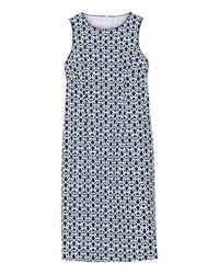 dunkelblaues bedrucktes gerade geschnittenes Kleid von Brigitte von Schönfels