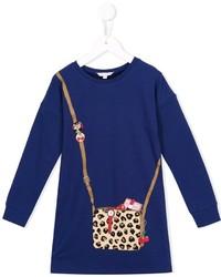 dunkelblaues bedrucktes Kleid von Little Marc Jacobs