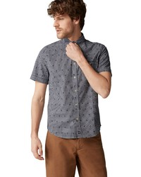dunkelblaues bedrucktes Kurzarmhemd von Marc O'Polo