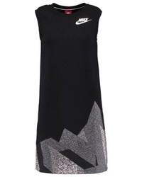 dunkelblaues bedrucktes Sweatkleid von Nike
