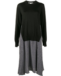 dunkelblaues bedrucktes Sweatkleid von Stella McCartney