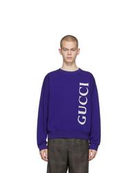 dunkelblaues bedrucktes Sweatshirt von Gucci