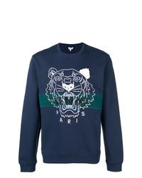 dunkelblaues bedrucktes Sweatshirt von Kenzo