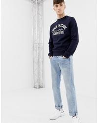 dunkelblaues bedrucktes Sweatshirt von Schott