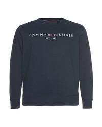 dunkelblaues bedrucktes Sweatshirt von Tommy Hilfiger