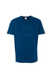 dunkelblaues bedrucktes T-Shirt mit einem Rundhalsausschnitt von Closed