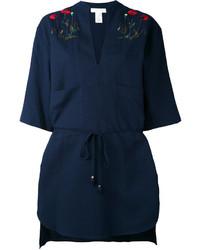 dunkelblaues besticktes Hemd von Stella McCartney