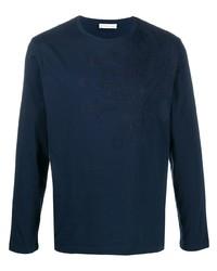 dunkelblaues besticktes Langarmshirt von Etro