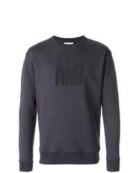 dunkelblaues besticktes Sweatshirt von AMI Alexandre Mattiussi