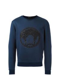 dunkelblaues besticktes Sweatshirt von Versace