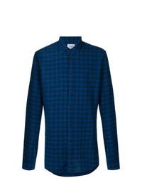 dunkelblaues Businesshemd mit Schottenmuster von Dondup