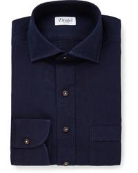 dunkelblaues Businesshemd von Drakes