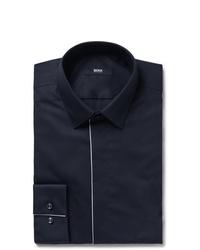 dunkelblaues Businesshemd von Hugo Boss