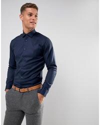 dunkelblaues Businesshemd von Selected Homme