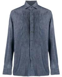 dunkelblaues Businesshemd von Tagliatore