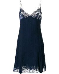 dunkelblaues Camisole-Kleid aus Spitze von Ermanno Scervino