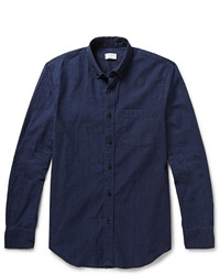 dunkelblaues Chambray Businesshemd