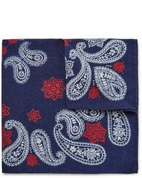 dunkelblaues Einstecktuch mit Paisley-Muster von Alex Mill