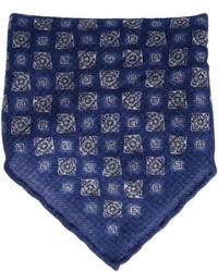 dunkelblaues Einstecktuch mit Paisley-Muster von Brunello Cucinelli