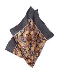 dunkelblaues Einstecktuch mit Paisley-Muster von Guido Maria Kretschmer