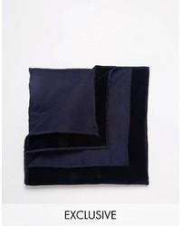 dunkelblaues Einstecktuch von Reclaimed Vintage