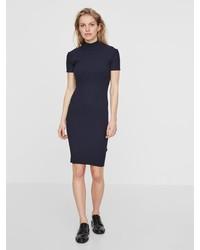 dunkelblaues figurbetontes Kleid von Noisy May