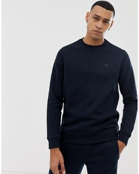 dunkelblaues Fleece-Sweatshirt von Emporio Armani