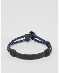 dunkelblaues geflochtenes Armband von Icon Brand