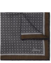 dunkelblaues gepunktetes Einstecktuch von Brioni