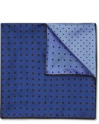 dunkelblaues gepunktetes Einstecktuch von Lanvin