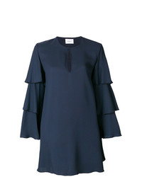 dunkelblaues gerade geschnittenes Kleid von Dondup