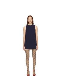 dunkelblaues gerade geschnittenes Kleid von Gucci