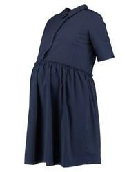 dunkelblaues gerade geschnittenes Kleid von Mamalicious