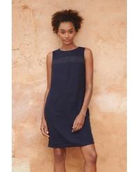 dunkelblaues gerade geschnittenes Kleid von NEXT